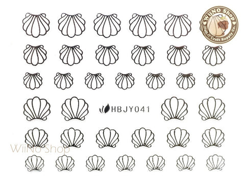 HBJY041 Silver Shell Nail Sticker Nail Art - 1 pc