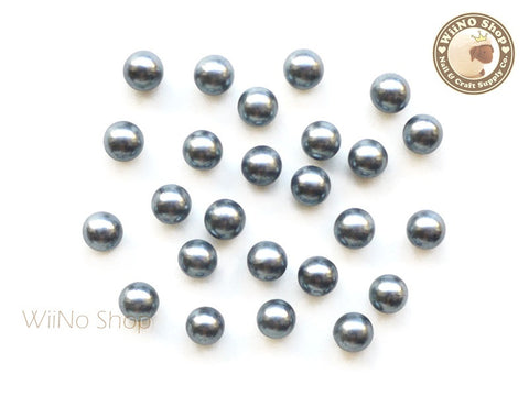 5mm Gray Pearl Beads Nail Art Decoration (No Hole) - 10 pcs