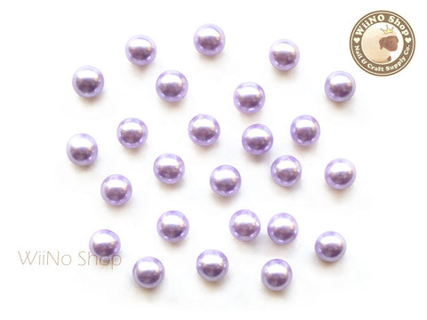 5mm Purple Pearl Beads Nail Art Decoration (No Hole) - 10 pcs