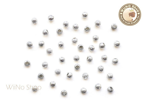 3mm Silver Stardust Beads Nail Art Decoration - 10 pcs