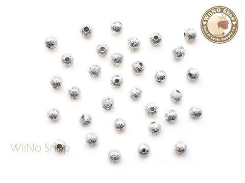 4mm Silver Stardust Beads Nail Art Decoration - 10 pcs