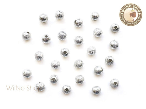 5mm Silver Stardust Beads Nail Art Decoration - 10 pcs