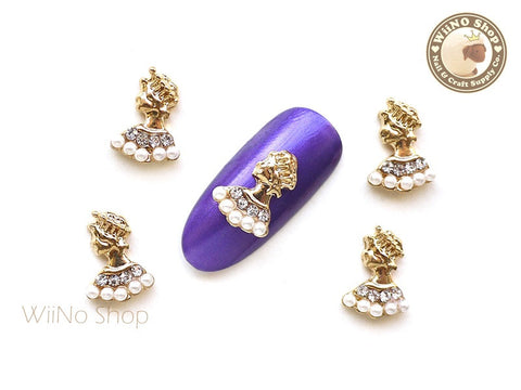 Queen Nail Metal Charm Nail Art - 2 pcs