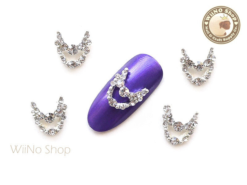 Silver Princess Necklace Nail Metal Charm Nail Art - 2 pcs