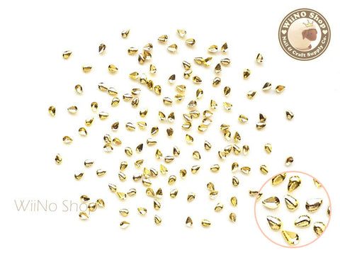 1 x 2mm Gold Mini Drop Metal Studs - 25 pcs