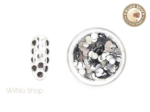 3mm Silver Round Dots Glitter