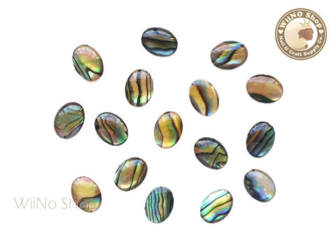 6 x 8mm Natural Seashell Oval Cabochon - 10 pcs