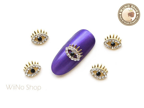 Gold Eye Nail Charm Nail Art - 2 pcs