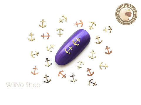 Gold Anchor Ultra Thin Metal Decoration Nail Art - 25 pcs (AC02G)
