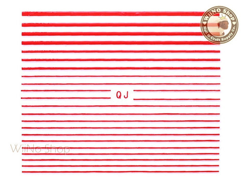 Red String Line Nail Art Sticker - 1 pc (QJR)