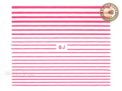 Hot Pink String Line Nail Art Sticker - 1 pc (QJHP)