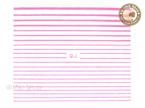 Pink String Line Nail Art Sticker - 1 pc (QJP)