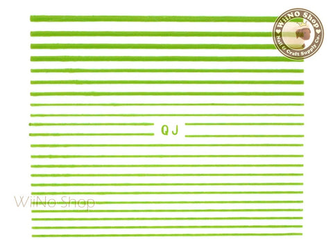 Green String Line Nail Art Sticker - 1 pc (QJGR)