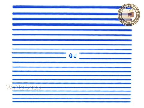 Blue String Line Nail Art Sticker - 1 pc (QJBU)