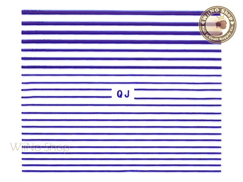 Purple String Line Nail Art Sticker - 1 pc (QJPU)