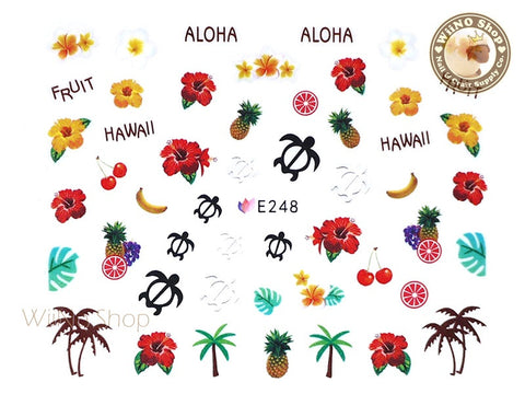 E248 Summer Hawaii Nail Sticker Nail Art - 1 pc