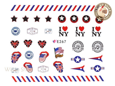 E267 I love NY Nail Sticker Nail Art - 1 pc