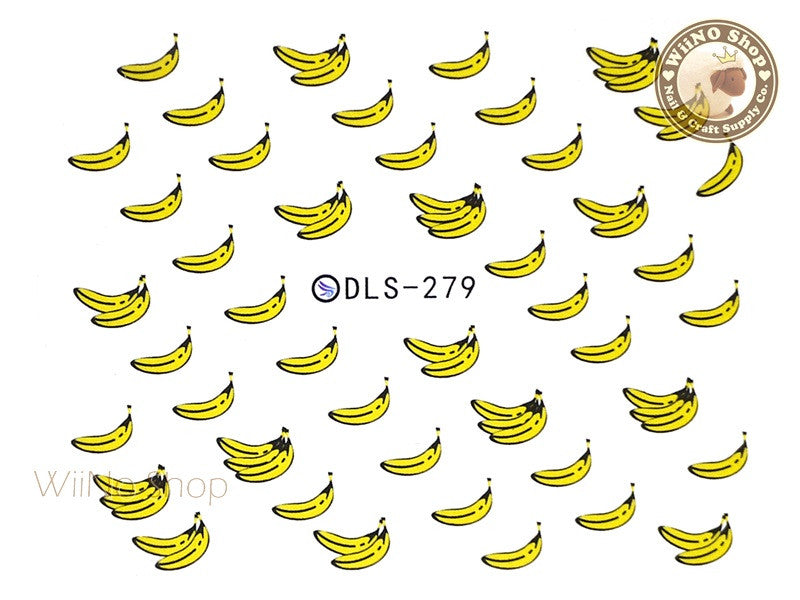 Banana Water Slide Nail Art Decals - 1pc (DLS-279)