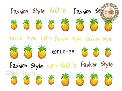 Pineapple Water Slide Nail Art Decals - 1pc (DLS-281)