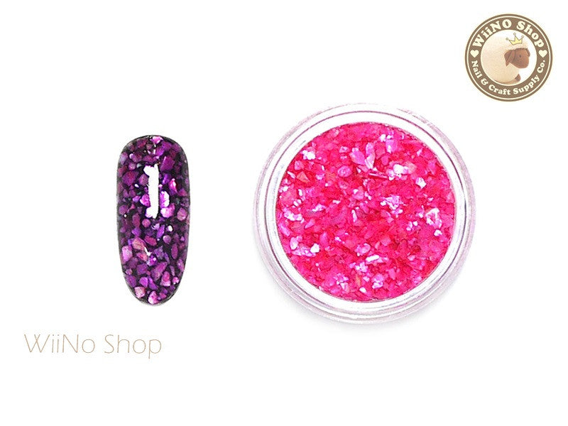 Hot Pink Crushed Shell Nail Art Decoration