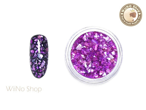 Purple Crushed Shell Nail Art Decoration
