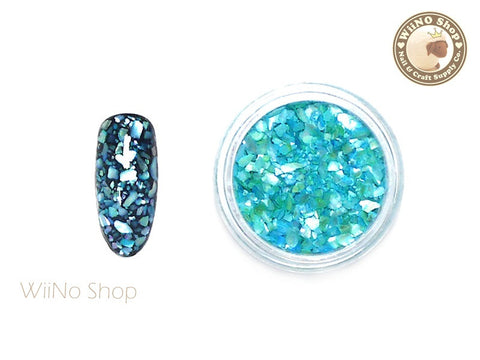 Blue Crushed Shell Nail Art Decoration