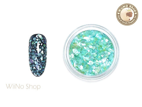 Light Turquoise Crushed Shell Nail Art Decoration