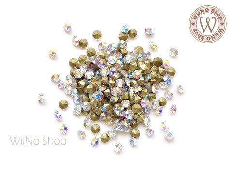 ss10 AB Clear Crystal Round Point Back- 50 pcs