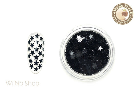 3mm Black Star Nail Art Glitter