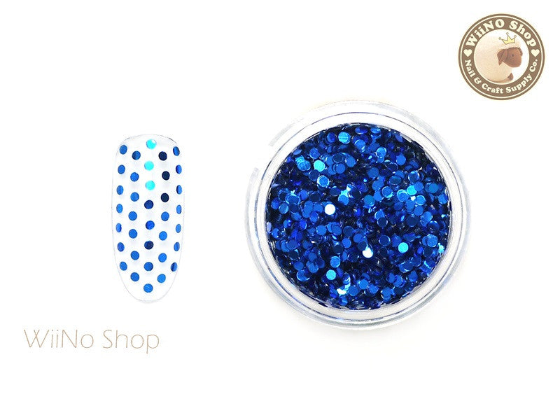 1mm Royal Blue Round Dots Glitter