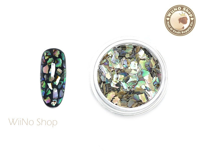 Natural Abalone Crushed Shell Nail Art Decoration