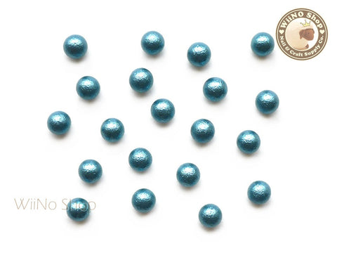 5mm Turquoise Cotton Pearl Beads Nail Art Decoration (No Hole) - 10 pcs