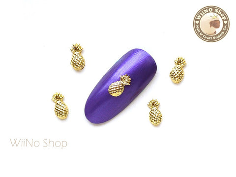 Gold Pineapple Nail Metal Charm Nail Art - 2 pcs