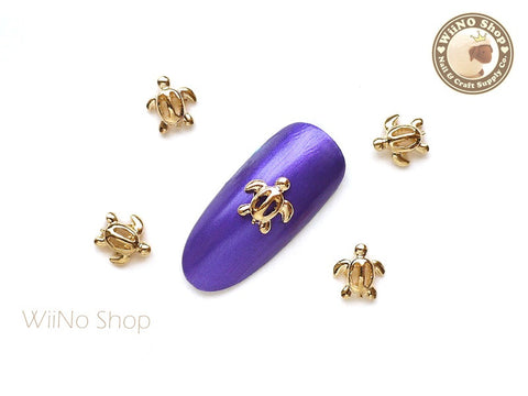 Gold Sea Turtle Nail Metal Charm Nail Art - 2 pcs