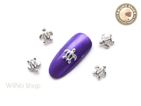 Silver Sea Turtle Nail Metal Charm Nail Art - 2 pcs