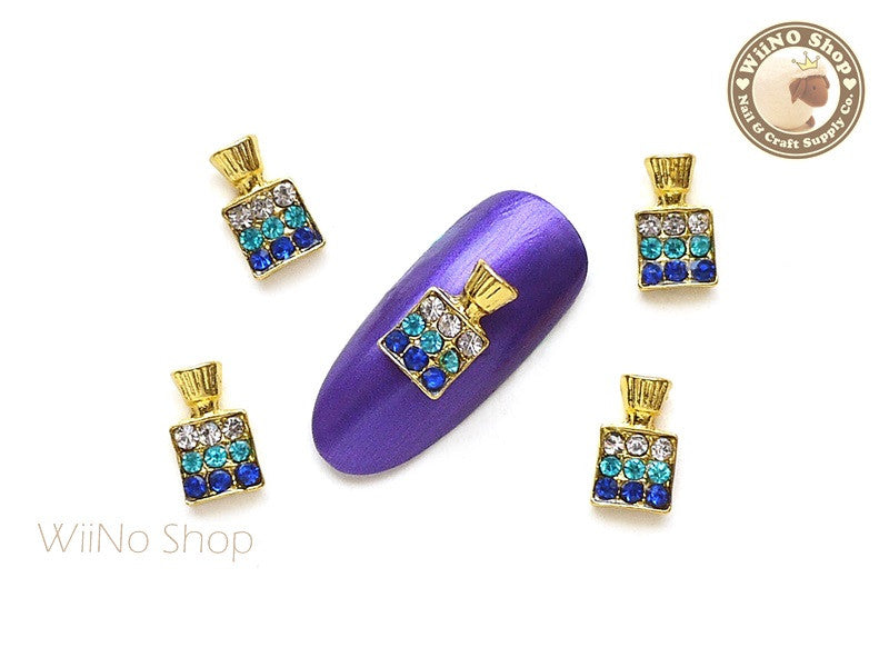 Blue Perfum Bottle Nail Charm Nail Art - 2 pcs
