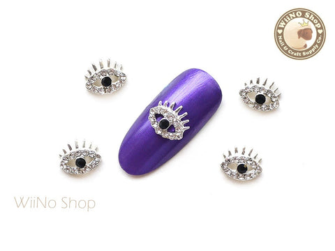 Silver Eye Nail Charm Nail Art - 2 pcs