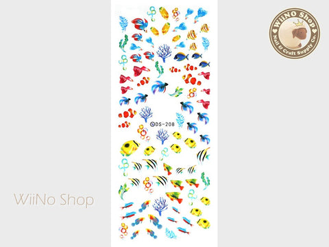 Colorful Fish Water Slide Nail Art Decals - 1 pc (DS-208)