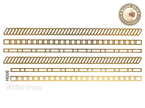 H006 Gold Metallic Temporary Jewelry Tattoos - 1 pc