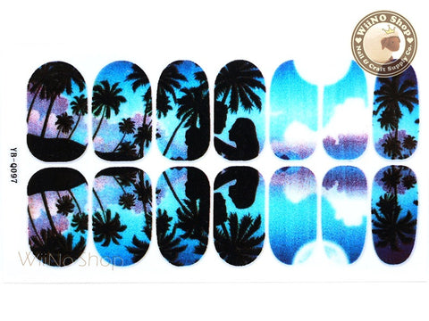 Palm Tree Nail Wraps Nail Sticker - 1 pc (YB-Q097)