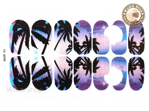 Palm Tree Nail Wraps Nail Sticker - 1 pc (YB-Q098)