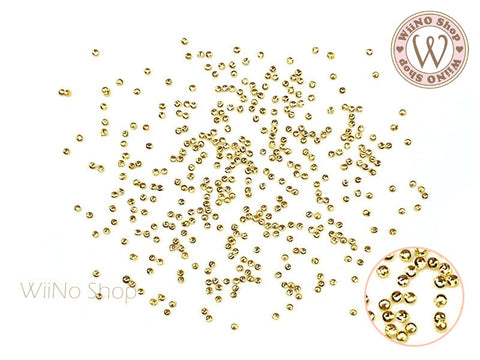 Gold Mini Round Metal Studs (0.8/1/1.2/1.5/2mm)