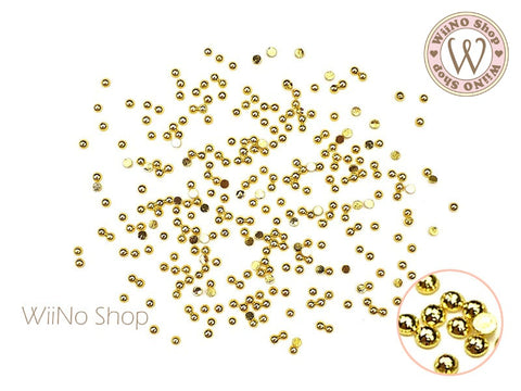 Gold Half Round Flat Back Metal Studs (1/1.5/2/2.5mm)