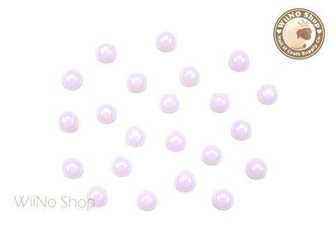 4mm Light Purple Candy Half Round Flat Back Acrylic Cabochon Nail Art- 15 pcs