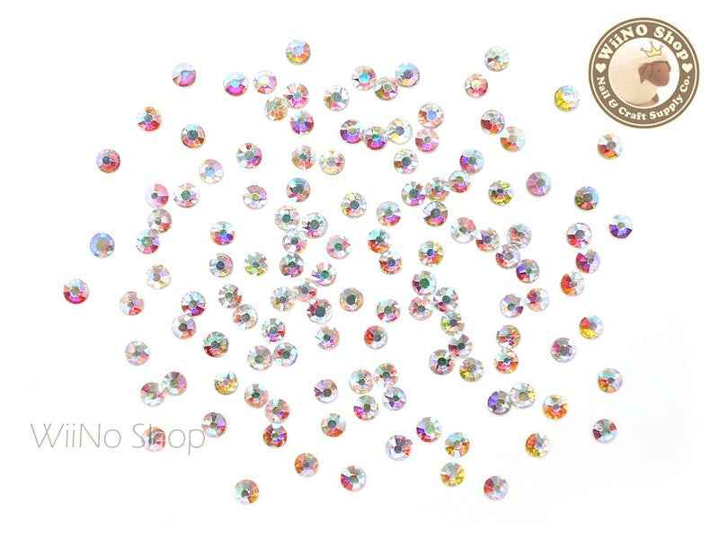 ss10 AB Clear Crystal Round Flatback - 100 pcs