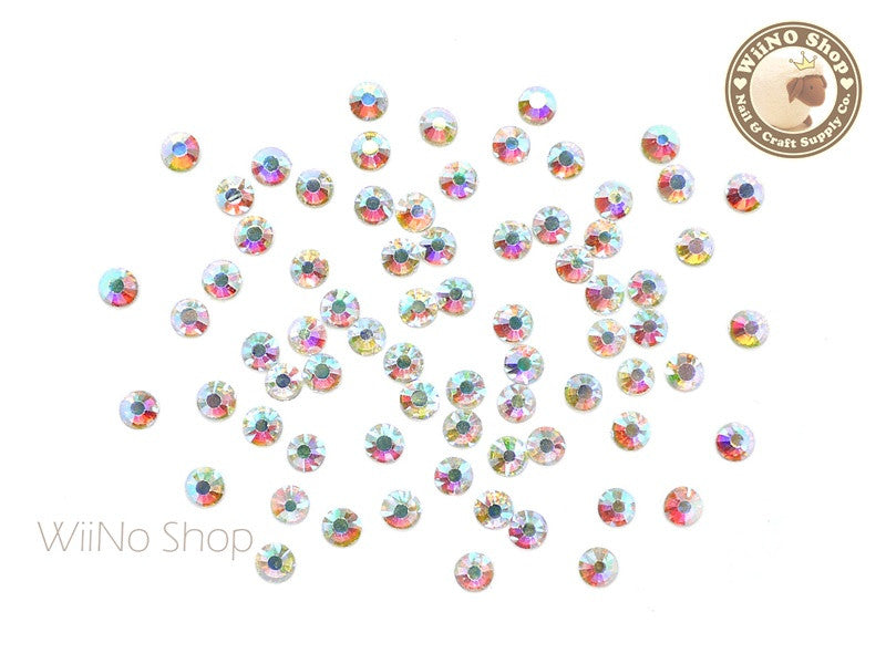 ss16 AB Clear Crystal Round Flatback - 60 pcs
