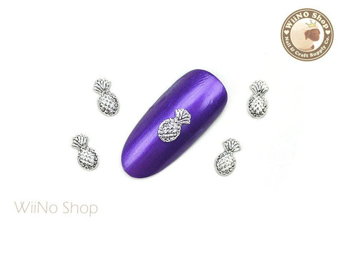 Silver Pineapple Nail Metal Charm Nail Art - 2 pcs