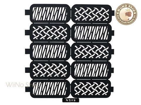 Weave Pattern Nail Stencil - 1 pc (NS09)