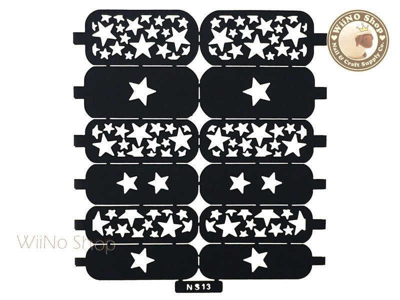Star Pattern Nail Stencil - 1 pc (NS13)