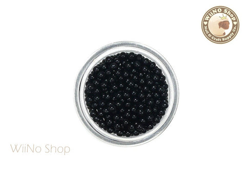 1.5mm 2mm Black Candy Beads 3D Nail Art Decoration
